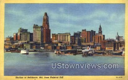 Federal Hill - Baltimore, Maryland MD Postcard
