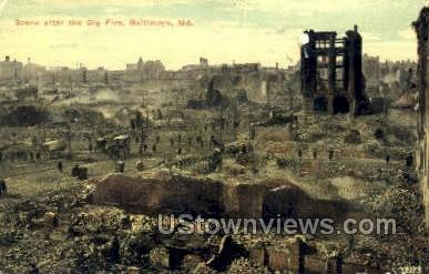 Big Fire - Baltimore, Maryland MD Postcard
