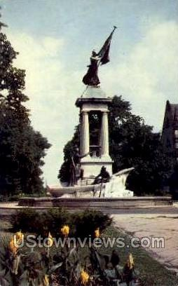 Francis Scott Key Monument - Baltimore, Maryland MD Postcard