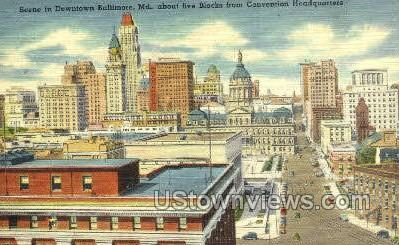 Convention Headquarters - Baltimore, Maryland MD Postcard