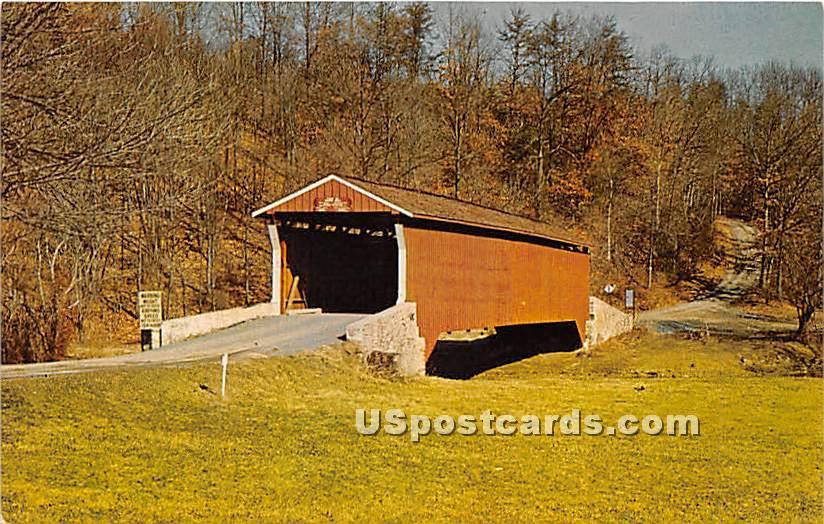 Bunker Hill Bridge - Baltimore County, Maryland MD Postcard