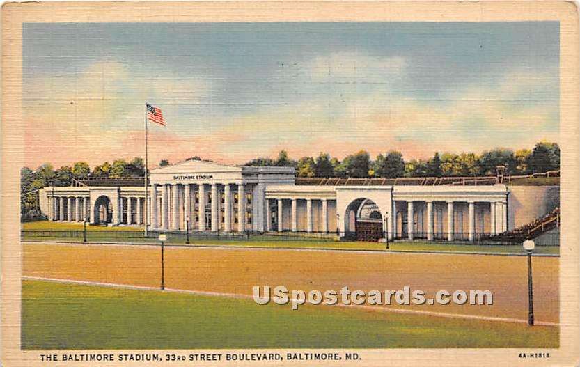 Baltimore Stadium - Maryland MD Postcard
