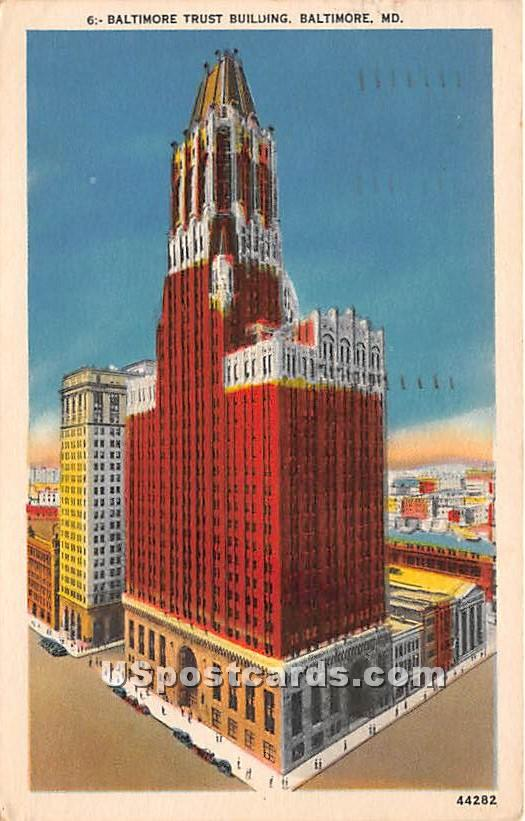 Baltimore Trust Building - Maryland MD Postcard