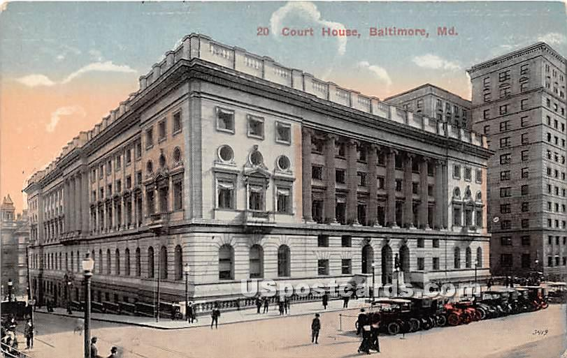 Court House - Baltimore, Maryland MD Postcard