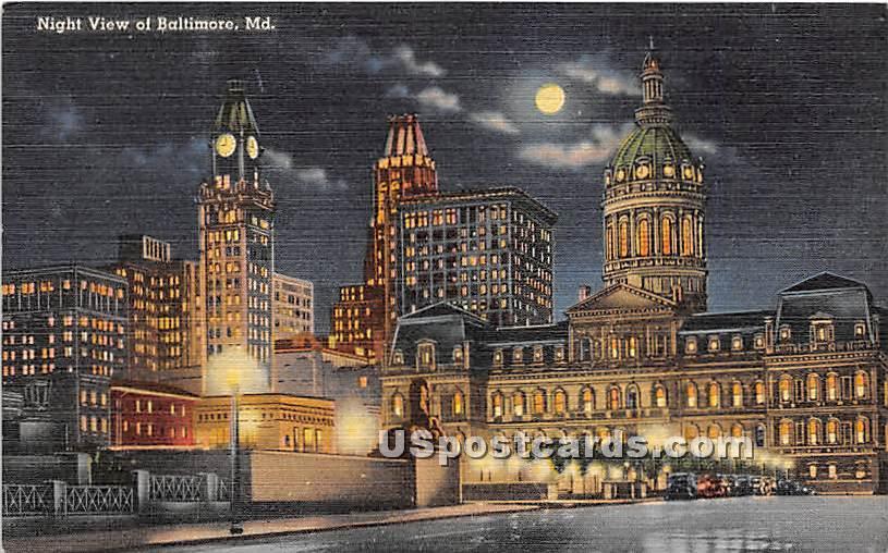 Baltimore, Maryland MD Postcard