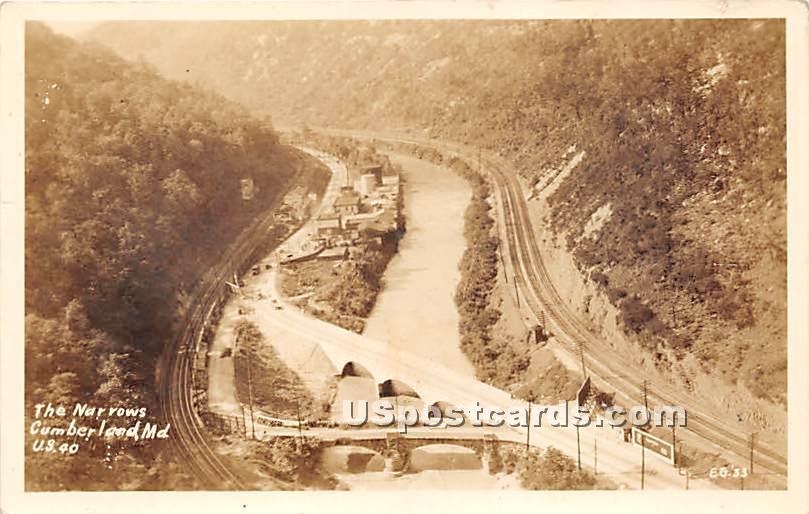 The Narrows - Cumberland, Maryland MD Postcard