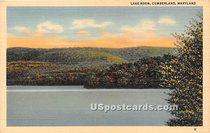 Lake Koon - Cumberland, Maryland MD Postcard