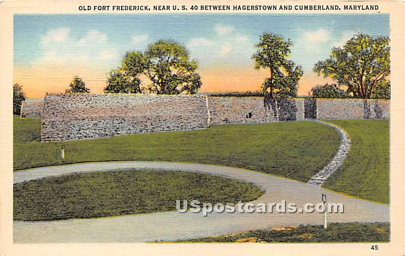 Old Fort Frederick - Cumberland, Maryland MD Postcard