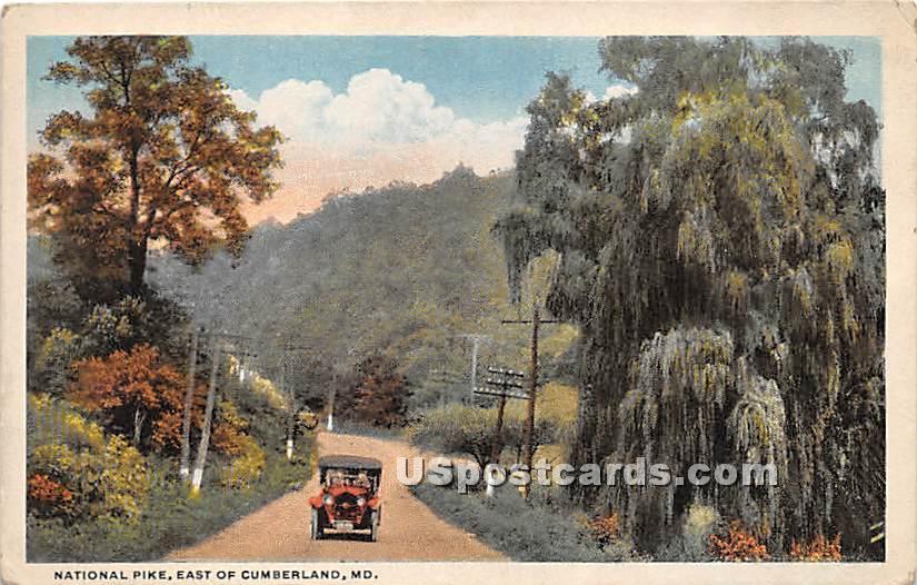 National Pike - Cumberland, Maryland MD Postcard