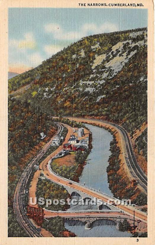 Narrows - Cumberland, Maryland MD Postcard