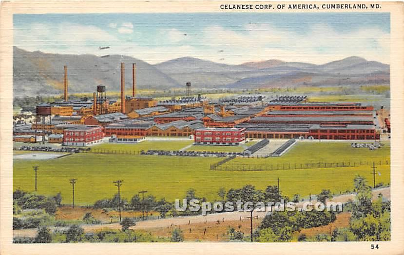 Celanese Corp of America - Cumberland, Maryland MD Postcard
