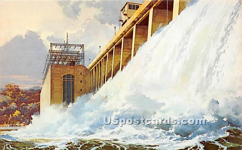 Conowingo Hydro Electric Plant, Susquehanna River - Maryland MD Postcard