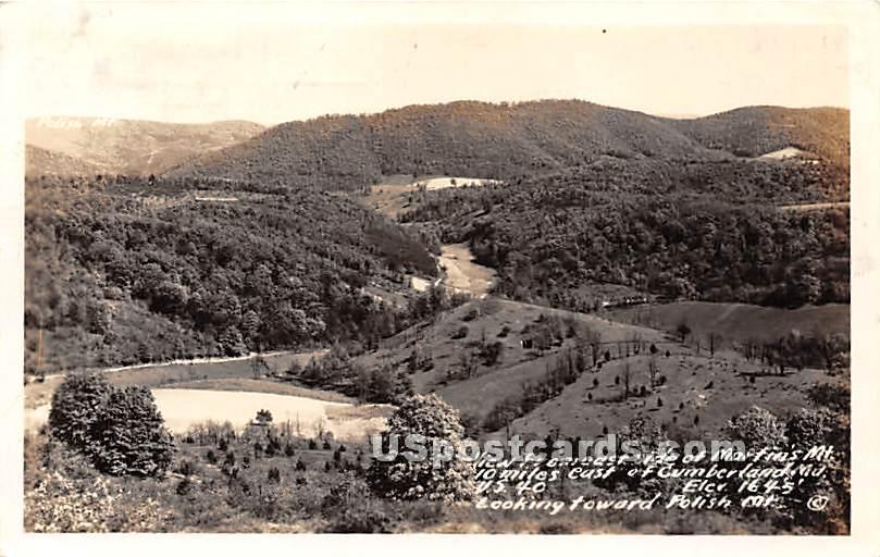 Martin's Mountain - Cumberland, Maryland MD Postcard