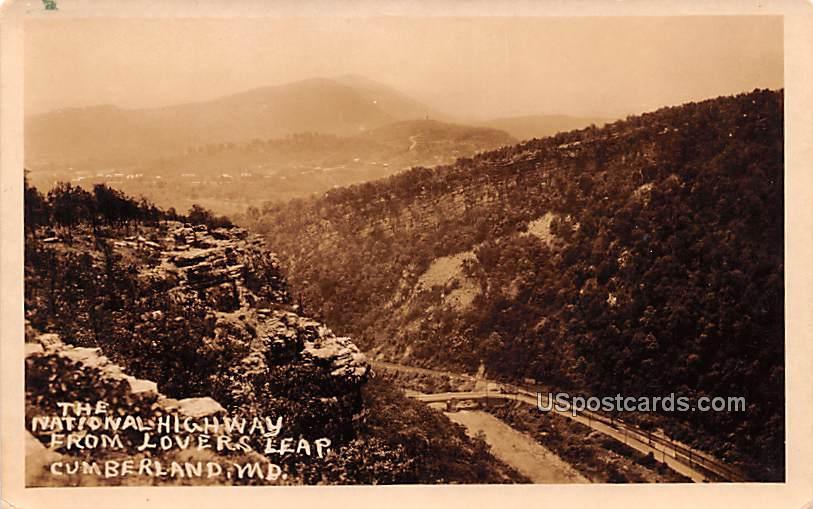 National Highway - Cumberland, Maryland MD Postcard