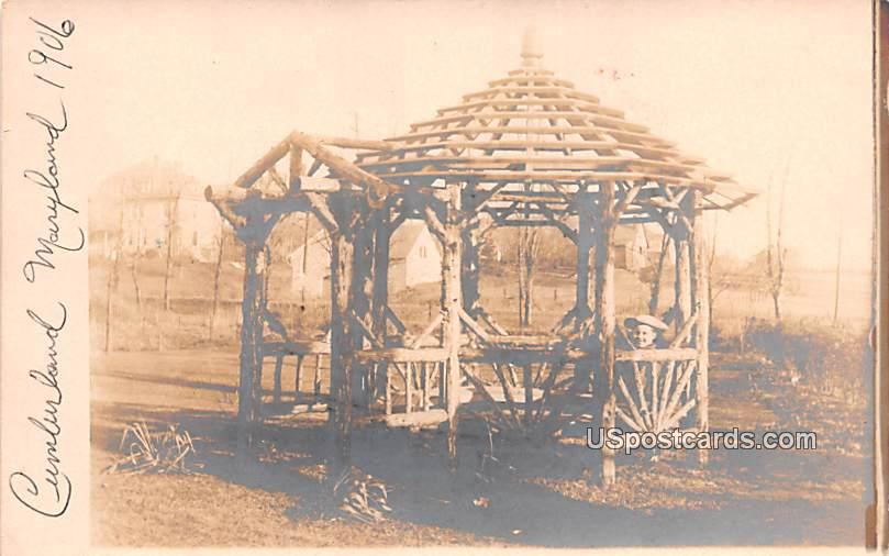 Gazebo - Cumberland, Maryland MD Postcard