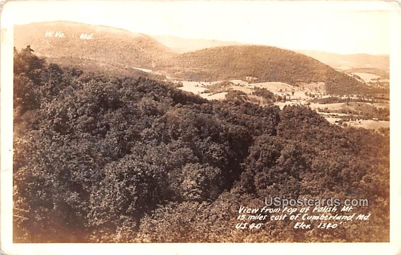 From Top of Polish Mountain - Cumberland, Maryland MD Postcard