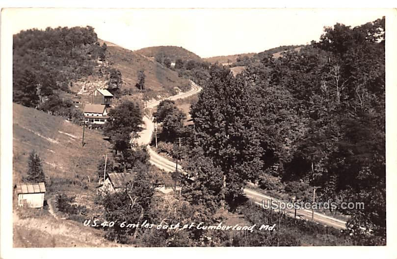 US 40 - Cumberland, Maryland MD Postcard