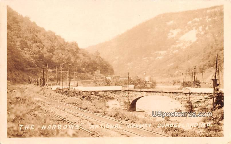 The Narrows National Highway - Cumberland, Maryland MD Postcard