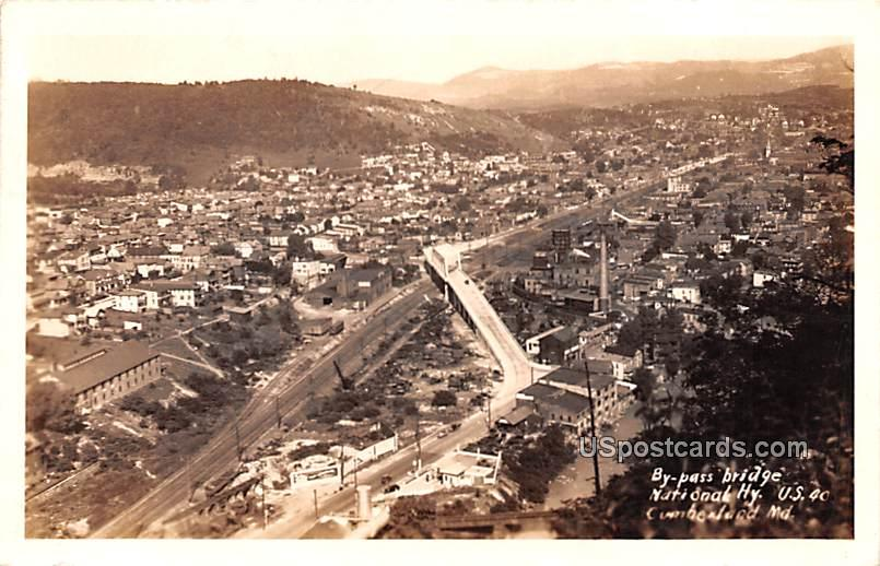 By Pass Bridge - Cumberland, Maryland MD Postcard