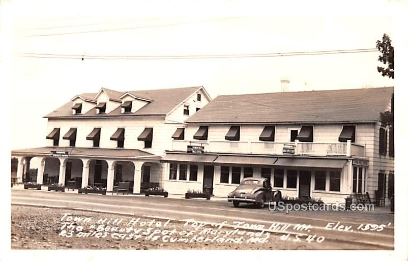 Town Hill Hotel Top of Town Hill Mountain - Cumberland, Maryland MD Postcard