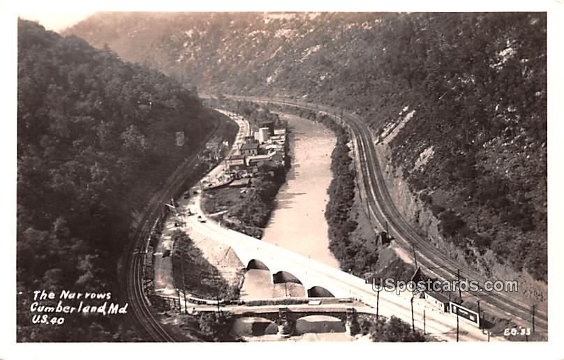 The Narrows - Cumberland, Maryland MD Postcard