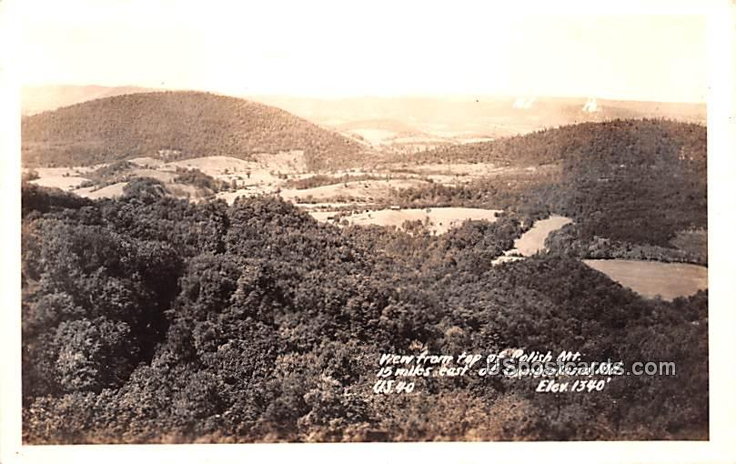 Top of Polish Mountain - Cumberland, Maryland MD Postcard