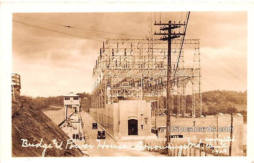 Bridge & Power House - Conowingo, Maryland MD Postcard