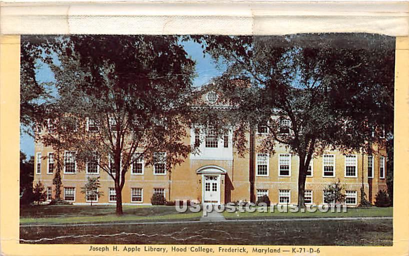Joseph H Apple Library, Hood College - Frederick, Maryland MD Postcard