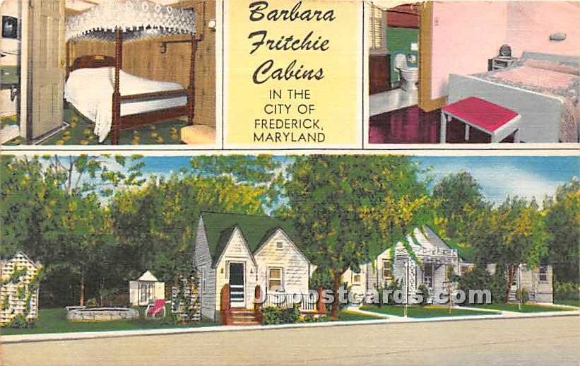 Barbara Fritchie Cabins - Frederick, Maryland MD Postcard