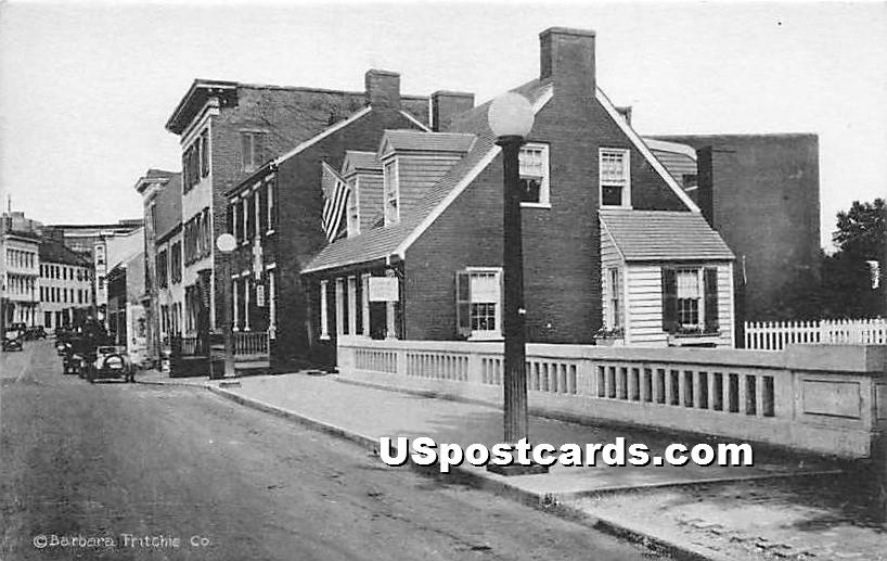 Barbara Fritchie House & Museum - Frederick, Maryland MD Postcard