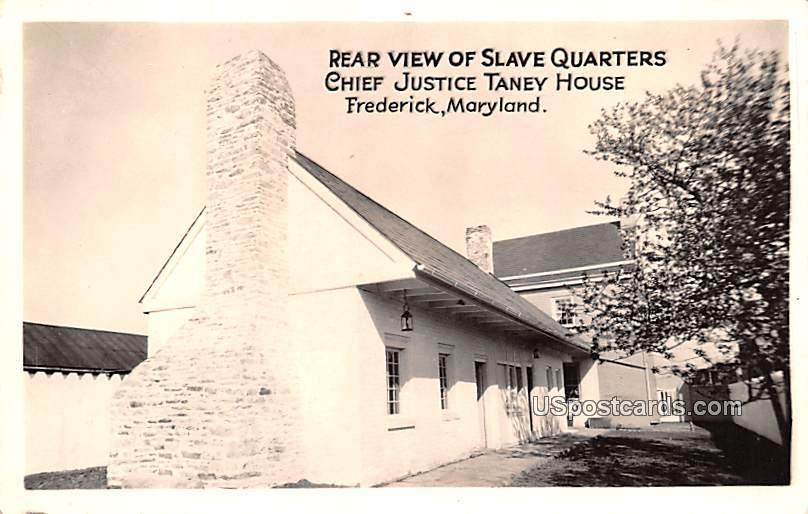 Rear View of Slave Quarters - Frederick, Maryland MD Postcard