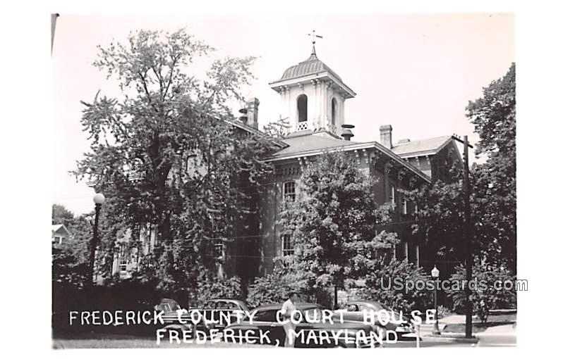 Frederick County Court House - Maryland MD Postcard