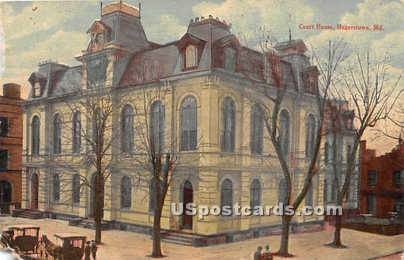 Court House - Hagerstown, Maryland MD Postcard