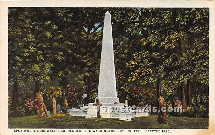 Cornwallis Surrendered to Washington Oct 19, 1781 - Misc, Maryland MD Postcard