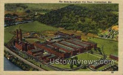 Kelly Springfield Tire Plant - Cumberland, Maryland MD Postcard