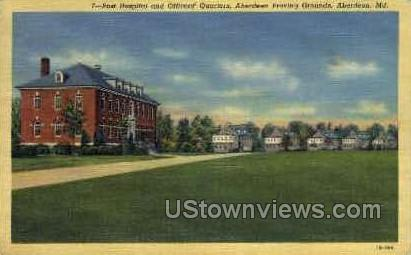 Post Hospital & Officers' Quarters - Aberdeen, Maryland MD Postcard