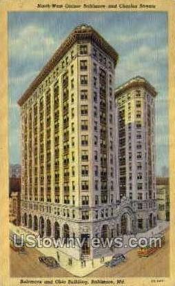 Baltimore & Ohio Bldg - Maryland MD Postcard