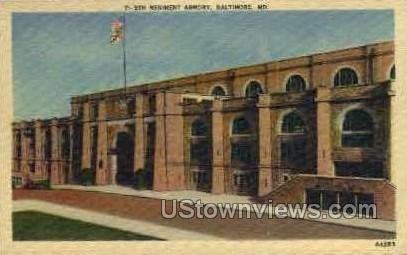 5th Regiment Armory - Baltimore, Maryland MD Postcard
