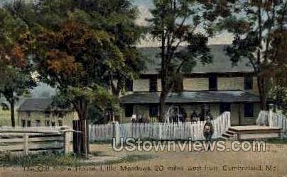 Old Stone House - Cumberland, Maryland MD Postcard