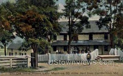 Old Stone House - Cumberland, Maryland MD Postcard