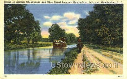 Chesapeake & Ohio Canal - Cumberland, Maryland MD Postcard