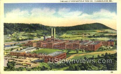The Kelly Springfield Tire Co. - Cumberland, Maryland MD Postcard