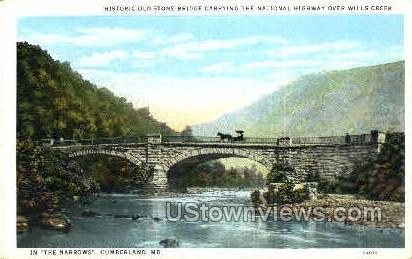 Old Stone Bridge - Cumberland, Maryland MD Postcard