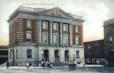 The Post Office - Cumberland, Maryland MD Postcard