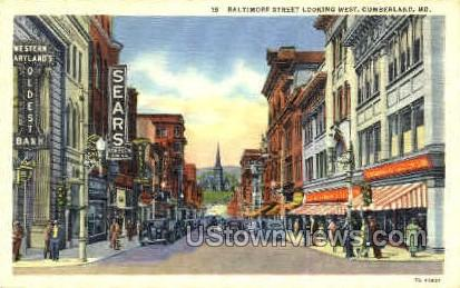 Baltimore St. - Cumberland, Maryland MD Postcard