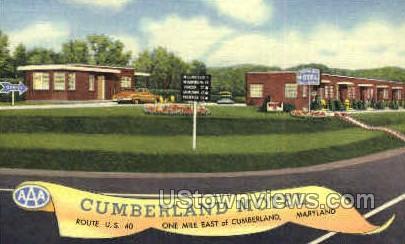 Cumberland Motel - Maryland MD Postcard