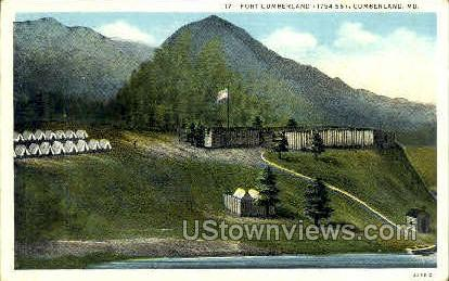 Fort Cumberland - Maryland MD Postcard
