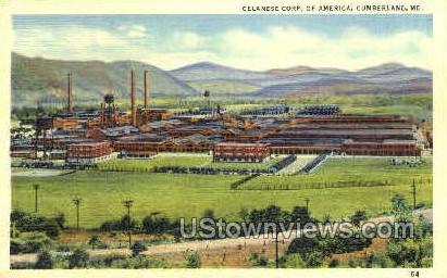 Celanese Corp. of America - Cumberland, Maryland MD Postcard