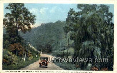 National Highway - Cumberland, Maryland MD Postcard