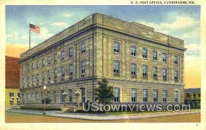 U.S. Post Office - Cumberland, Maryland MD Postcard